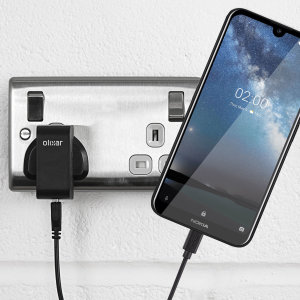 Charge your Nokia 2.2 quickly and conveniently with this compatible 2.5A high power charging kit. Featuring mains adapter and USB cable.