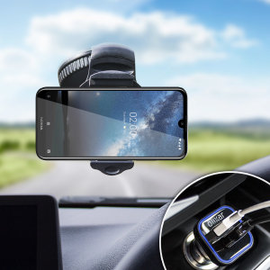 Essential items you need for your smartphone during a car journey all within the Olixar DriveTime In-Car Pack. Featuring a robust one-handed phone car mount and car charger with an additional USB port for your Nokia 2.2