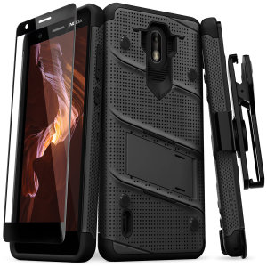 Equip your Nokia 3.1 C with military-grade protection and superb functionality with the ultra-rugged Bolt case in black from Zizo. Coming complete with a handy belt clip and integrated kickstand.