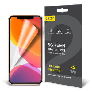 Keep your iPhone 11 Pro Max's screen in pristine condition with this Olixar scratch-resistant screen protector 2-in-1 pack. Ultra responsive and easy to apply, these screen protectors are the ideal way to keep your display looking brand new.