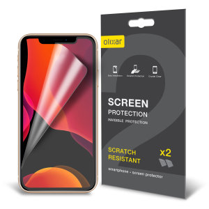 Keep your iPhone 11 Pro's screen in pristine condition with this Olixar scratch-resistant screen protector 2-in-1 pack. Ultra responsive and easy to apply, these screen protectors are the ideal way to keep your display looking brand new.