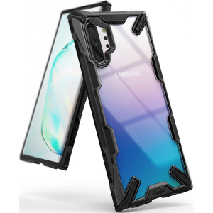 Keep your Samsung Galaxy Note 10 Plus protected from bumps and drops with the Rearth Ringke Fusion X tough case in Black. Featuring a 2-part, Polycarbonate design, this case lives up to military drop-test standards.