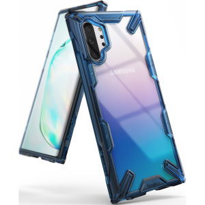 Keep your Samsung Galaxy Note 10 Plus protected from bumps and drops with the Rearth Ringke Fusion X tough case in Space Blue. Featuring a 2-part, Polycarbonate design, this case lives up to military drop-test standards.