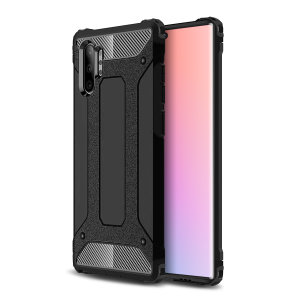 Protect your Samsung Note 10 Plus 5G from bumps and scrapes with this black Delta Armour case from Olixar. Comprised of an inner TPU section and an outer impact-resistant exoskeleton.