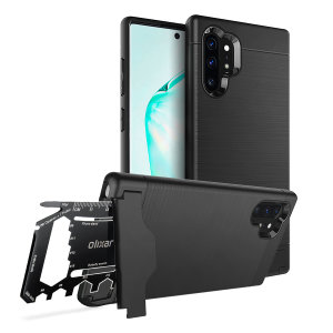 Prepare your Samsung Galaxy Note 10 Plus 5G for the great outdoors with the rugged X-Ranger case. With a handy kickstand and a secure compartment for the included multi-tool - or the card of your choice - you'll be ready for anything.