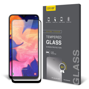 This ultra-thin tempered glass screen protector for the Samsung Galaxy A10e from Olixar offers toughness, high visibility and sensitivity all in one package.