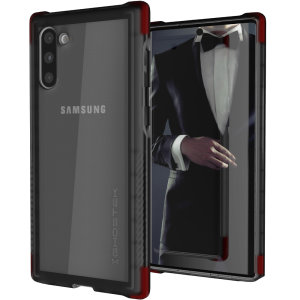 Custom moulded for the Samsung Galaxy Note 10, the Ghostek tough case in Smoke colour provides a slim fitting, stylish design and reinforced corner protection against shock damage, keeping your Samsung Galaxy Note 10 looking great at all times.