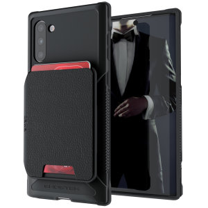 The Exec 4 premium wallet case in Black provides your Samsung Galaxy Note 10 with fantastic protection. Also featuring storage slots for your credit cards, ID and cash.