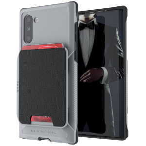 The Exec 4 premium wallet case in Grey provides your Samsung Galaxy Note 10 with fantastic protection. Also featuring storage slots for your credit cards, ID and cash.