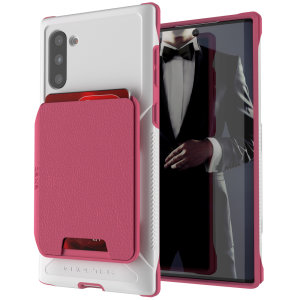 The Exec 4 premium wallet case in Pink provides your Samsung Galaxy Note 10 with fantastic protection. Also featuring storage slots for your credit cards, ID and cash.