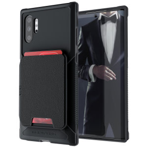The Exec 4 premium wallet case in Black provides your Samsung Galaxy Note 10 Plus with fantastic protection. Also featuring storage slots for your credit cards, ID and cash.