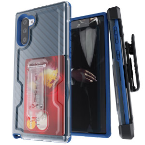 The Samsung Galaxy Note 10 Iron Armor 3 case in Blue from Ghostek provides your Samsung Galaxy Note 10 with fantastic all-around protection. Includes a card slot for added convenience.
