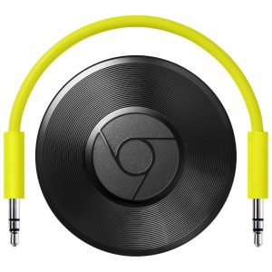 Chromecast Audio is a media streaming device that plugs into the AUX input of your speaker, making your speaker Wi-Fi enabled. Once set up, simply use your device or Chromebook to cast your favourite tunes to the best speakers in the house via an EU plug.