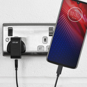 Charge your Motorola Moto Z4 and any other USB device quickly and conveniently with this compatible 2.5A high power USB-C UK charging kit. Featuring a UK wall adapter and a 1m USB-C cable.