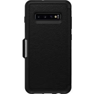 A sophisticated lightweight black Strada Wallet Cover Case from Otterbox offers perfect protection for your Galaxy S10, as well as featuring slots for your cards, cash and documents ensuring you are fully equipped for your daily activities.