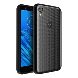 Custom moulded for the Motorola Moto E6, this crystal clear Olixar ExoShield tough case provides a slim fitting, stylish design and reinforced corner protection against shock damage, keeping your device looking great at all times.