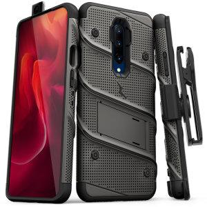 Mantenga perfectamente protegido el OnePlus 7 Pro 5G gracias a este pack de funda y protector de pantalla Zizo Bolt. También incluye pinza de cinturón.