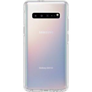 El increíble material utilizado para fabricar esta fantástica funda Symmetry de Otterbox ofrece como resultado una protección increíble ante golpes para el Samsung Galaxy S10 5G.