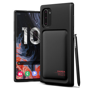 Protect your Note 10 with this precisely designed High Pro Shield case in matt black from VRS Design. Made with tough yet slim material, this hard-shell construction with soft core features patented sliding technology to store two credit cards or ID.