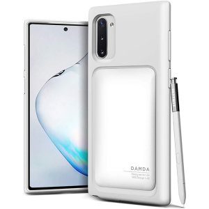 Protect your Note 10 with this precisely designed High Pro Shield case in cream white from VRS Design. Made with tough yet slim material, this hard-shell construction with soft core features patented sliding technology to store two credit cards or ID.