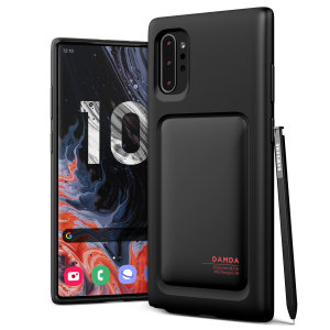 Protect your Note 10 Plus with this precisely designed High Pro Shield case in Matt black from VRS Design. Made with tough yet slim material, this hard-shell construction with soft core features patented sliding technology to store two credit cards or ID.