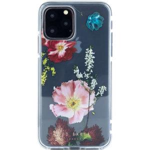 Fabriquée sur mesure, la coque Ted Baker Fleurs des bois ajoute un sublime design floral éthéré à votre iPhone 11 Pro tout en lui assurant une protection exceptionnelle contre les chocs, les chutes et autres dommages.