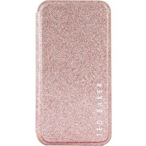 Parfaitement ajustée à votre iPhone 11 Pro et dotée d'une superbe finition pailletée en coloris rose, la coque à rabat Ted Baker Folio Glitsie protège et donne un style élégante à votre smartphone.