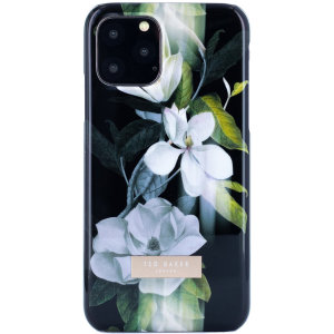 Form-fitting and bulk-free, the Opal Clip case for iPhone 11 Pro Max from Ted Baker sports an ethereal, otherworldly floral aesthetic while also offering superlative protection for your device from drops, scrapes and other damage.