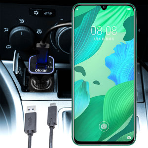 Keep your Huawei Nova 5 fully charged on the road with this compatible Olixar high power dual USB 3.1A Car Charger with an included high quality  1m USB to USB-C charging cable.
