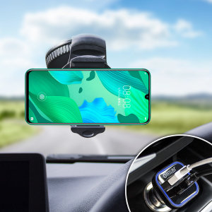 Essential items you need for your smartphone during a car journey all within the Olixar DriveTime In-Car Pack. Featuring a robust one-handed phone car mount and car charger with an additional USB port for your Huawei Nova 5.