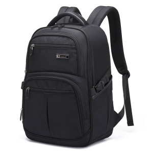 "The Tuowan backpack in black combines 35L of capacity with a water-resistant rugged material and multiple compartments to protect your laptop, tablet and any other accessories, whilst on the go. Compatible with laptops up to 15.6""."