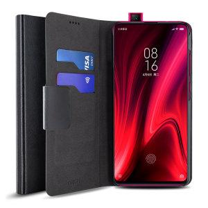 Schützen Sie Ihr Xiaomi Redmi K20 mit dieser robusten und eleganten Brieftasche von Olixar. Darüber hinaus verwandelt sich diese Tasche in einen praktischen Ständer zum Anzeigen von Medien.