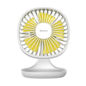 A beautifully minimalist and stylish USB powered fan from Baseus. Provides for a cool breeze on your desk. Made of an ultra-light material frame with ON/OFF switch.