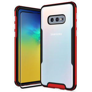 The Protective Fuse Series for the Samsung Galaxy S10e. The Red finish gives you protection for your phone in style. This case is made for pure luxury and style.