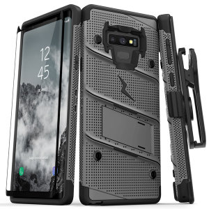 Equip your Samsung Galaxy Note 9 with military grade protection and superb functionality with the ultra-rugged Bolt case in Gunmetal from Zizo. Coming complete with a handy belt clip and integrated kickstand.