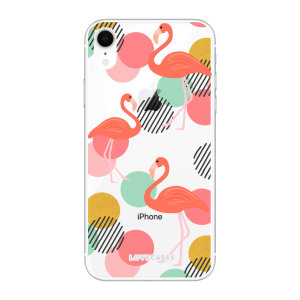 LoveCases iPhone XR Flamingo Clear Phone Case