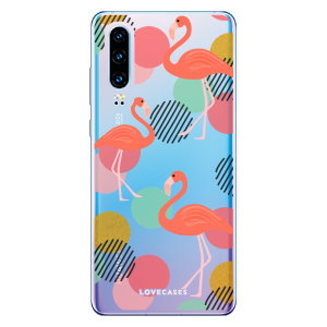 LoveCases Huawei P30 Flamingo Clear Phone Case