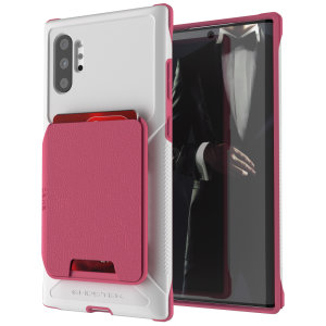 The Exec 4 premium wallet case in Pink provides your Samsung Galaxy Note 10 Plus 5G with fantastic protection. Also featuring storage slots for your credit cards, ID and cash.