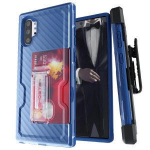 The Samsung Galaxy Note 10 Plus 5G Iron Armor 3 case in Blue from Ghostek provides your Samsung Galaxy Note 10 Plus 5G with fantastic all-around protection. Includes a card slot for added convenience.