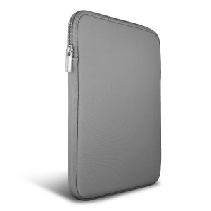 "The Olixar universal neoprene sleeve is a grey slim, form-fitting and extremely durable case for your 9-10"" tablet. With a unique, sleek and stylish design."