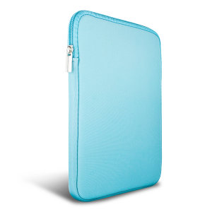 "The Olixar universal neoprene turquoise sleeve is a slim, form-fitting and extremely durable case for your 9-10"" tablet. With a unique, sleek and stylish design."
