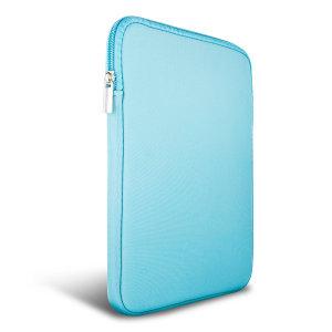 La housse zippée Olixar néoprène en coloris turquoise est suffisamment mince et résistante pour accueillir et protéger n'importe quelle tablette 9-10 pouces (ou plus petite).