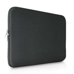 "The black Olixar universal neoprene sleeve is a slim, form-fitting and extremely durable case for your 13"" laptop and tablet. With a unique, sleek and stylish design."