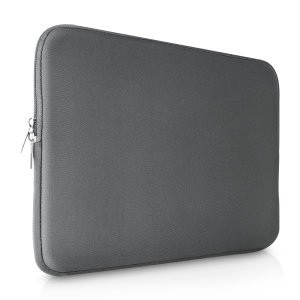 "The grey Olixar universal neoprene sleeve is a slim, form-fitting and extremely durable case for your 15"" laptop and Macbook. With a unique, sleek and stylish design."
