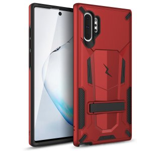 Protect your Samsung Galaxy Note 10 Plus from bumps and scrapes with this Red/Black Zizo Transform case. Comprised of an outer impact-resistant shell, the Zizo Hybrid Transformer Case offers a sturdy and robust protection for your phone