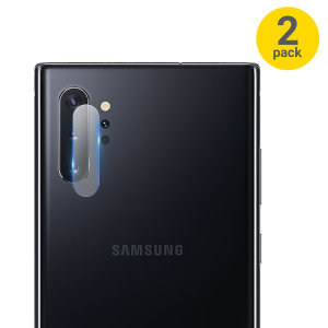 This twin pack of ultra-thin tempered glass rear camera protectors for the Samsung Galaxy Note 10 Plus 5G from Olixar offers toughness and superb clarity for your photography all in one package.