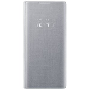 Protect your Samsung Galaxy Note 10 Plus 5G screen from harm and keep up to date with your notifications through the intuitive LED display with the official silver LED cover from Samsung.