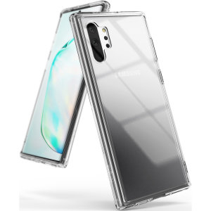 Protect the back and sides of your Samsung Galaxy Note 10 Plus 5G with this incredibly durable clear crystal-backed Fusion Case by Ringke.