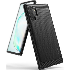 Provide your Samsung Galaxy Note 10 Plus 5G with sleek, yet heavy duty protection and premium brushed metal look offering Ringke Onyx case.
