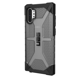 The Urban Armour Gear Plasma semi-transparent tough case in Ash grey for the Samsung Galaxy Note 10 Plus 5G features a protective case with a brushed metal UAG logo insert for an amazing rugged and stylish design.